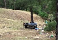 Otomobil Şarampole Devrildi Açıklaması 2 Ölü, 2 Yaralı