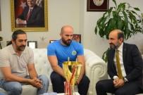 NAİM SÜLEYMANOĞLU - Başkan Edebali'ye Engelli Şampiyon Basketçilerden Ziyaret