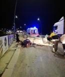 ÇAVUŞLU - Kontrolden Çıkan Otomobil Takla Attı Açıklaması 1'İ Ağır 5 Yaralı