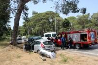 ALI ARSLAN - Kontrolü Kaybeden Sürücü Karşı Şeritten Gelen Araca Çarptı Açıklaması 2 Yaralı