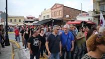 ALEKSİS ÇİPRAS - Midilli Adası'nda Sığınmacı Protestosunda Arbede