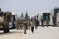 ÖZGÜR SURİYE - Şam'ın Güneyinden Tahliye Edilen Rejim Muhaliflerinin İlk Kafilesi El Bab'a Geldi