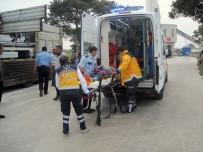 İNŞAAT MALZEMESİ - Çanakkale'de İş Kazası Açıklaması 1 Yaralı