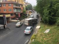 GÖRGÜ TANIĞI - (Özel) Beşiktaş'ta Kaldırıma Çarpan Kamyonet Takla Attı Açıklaması 2 Yaralı
