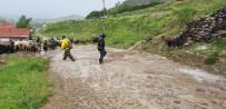 ESKIGEDIZ - Hayvanlar Su Baskınında Telef Olmaktan Son Anda Kurtarıldı
