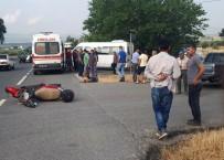 Milas'ta Kamyonetle Motosiklet Çarpıştı; 1 Yaralı