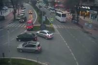 KURAL İHLALİ - Samsun'da Kural İhlali Sonucu Yaşanan Trafik Kazaları Kamerada