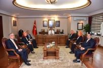 SMS - 'Açık Kapı' Personeli Vali Kemal Çeber'i Ziyaret Etti