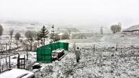 KAR YAĞıŞı - Erzurum'da Mayıs ayında kar yağdı