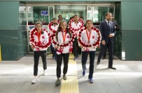 GÜNEY DOĞU - Türkiye'ye Tarihindeki İlk Madalyayı Kazandıran Atletizm Yürüyüş Milli Takımı Yurda Döndü