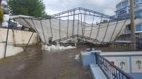 Uşak'ın Corum Köyünü Dolu Ve Fırtına Vurdu