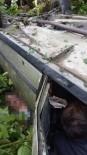 GIRESUN ÜNIVERSITESI - Giresun'da Dereye Yuvarlanan Araçta Sıkışan Yaralı Uzun Uğraşlar Sonucu Çıkartılabildi