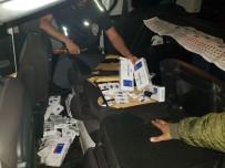 SERBEST BÖLGE - Kaçak Sigaraları Otomobile Zulalamışlar