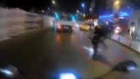 MOTOSİKLET KAZASI - Motosikletli Şahsın Tehlikeli Şovu Kazayla Bitti
