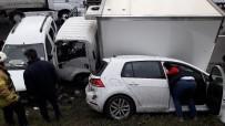 TRAFİK YOĞUNLUĞU - TEM'de Zincirleme Kaza Açıklaması 5 Araç Birbirine Girdi