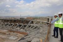 Başkan Çalışkan, Yeni Stadyum İnşaatında İncelemelerde Bulundu
