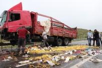 TUĞLU - Karaman'da Sağanak Yağış Kazalara Neden Oldu Açıklaması 3 Yaralı