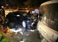 YANGIN TÜPÜ - Kaza Sonrası Alev Alan Aracı TOMA Söndürdü