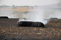 BAĞLAMA - Balya Bağlama Makinası Yangın Çıkardı