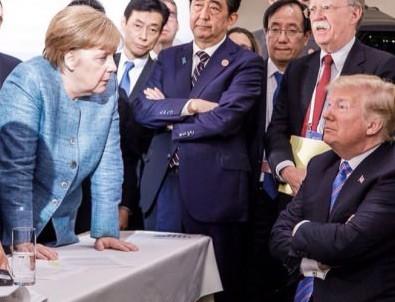 G-7 zirvesine damga vuran fotoğraf
