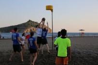 EĞİTİM DERNEĞİ - Muğla'da Dünyaca Ünlü Sarıgerme Plajı Korfbol İle Şenlendi