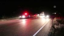 Otomobil Küçükbaş Hayvan Sürüsüne Çarptı