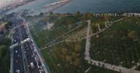 (Özel) Zeytinburnu Sahilinde İftar Yoğunluğu Havadan Görüntülendi