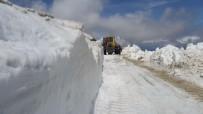 KONURSU - Bayburt'ta Haziran Ayında Karla Mücadele