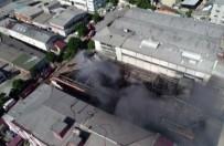 Çöken İş Merkezi Havadan Görüntülendi
