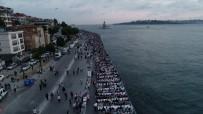 ÜSKÜDAR BELEDİYESİ - Kız Kulesi Manzaralı 2 Kilometrelik Dev İftar Sofrası Hayran Bıraktı
