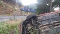 Otomobil Takla Attı Açıklaması2'si Çocuk 3 Yaralı