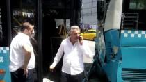 METRO DURAĞI - Şişli'de Halk Otobüsleri Çarpıştı