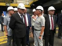 DEMIR ÇELIK - Bakan Özlü'den Demir Çelik Fabrika Ziyareti