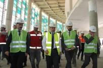 RECEP AKDAĞ - Başbakan Yardımcısı Akdağ, Erzurum Şehir Hastanesi İnşaatında İncelemelerde Bulundu