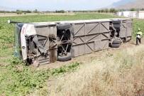 Elazığ'da Yolcu Otobüsü Devrildi Açıklaması 4 Yaralı