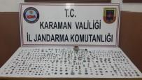Karaman'da Bir Otomobilden 527 Parça Tarihi Eser Çıktı