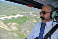 BÖLÜNMÜŞ YOLLAR - Bakan Aslan, Erzurum'un Karayolu Ağını Helikopterden İnceledi