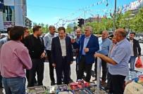 AK PARTİ İL BAŞKANI - Başkanlar, Palandöken'de Pazar Esnafıyla Buluştu