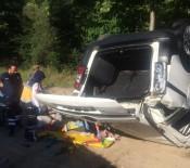 Bursa'da Ticari Araç Şarampole Yuvarlandı Açıklaması 4 Yaralı