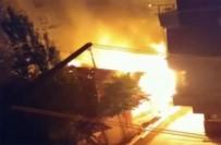 ALSANCAK - İşçilerin Kaldığı Barakada Korkutan Yangın