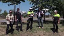KARADENIZ SAHIL YOLU - Samsun'da Bayram Öncesi 'Drone' İle Trafik Denetimi