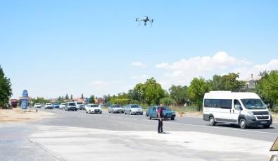 Aksaray'da Drone İle Trafik Uygulaması