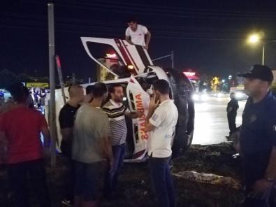 Ambulansla Otomobil Çarpıştı Açıklaması 5 Yaralı