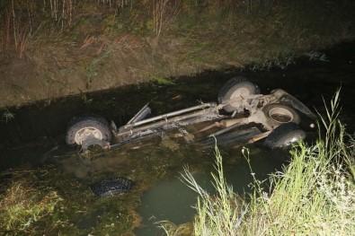 Aracıyla Sulama Kanalına Düşen Yaşlı Adam Öldü