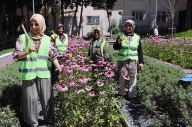 Bağcılar'da Park Ve Bahçelere Kadın Eli Değdi