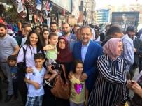 KÖTÜLÜK - Bakan Özhaseki Bayram Alışverişi Yapan Vatandaşlarla Buluştu