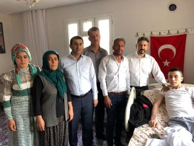 Başkanvekili Aydın'dan Afrin Gazisine 'Geçmiş Olsun' Ziyareti