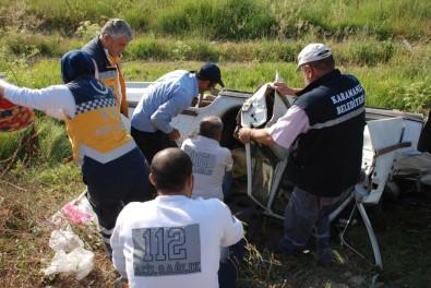 Burdur'da Otomobil Şarampole Uçtu Açıklaması 1 Ölü, 2 Yaralı