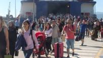 DENIZ OTOBÜSÜ - Deniz Otobüsü Ve Feribotlarda Bayram Yoğunluğu Başladı
