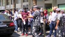 FİLİSTİN BÜYÜKELÇİLİĞİ - Lübnan'da Filistin Yönetimi Protesto Edildi